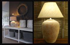 Preciosas lámparas artesanales hechas en terracota, un nuevo concepto del rústico-moderno. Ya las puedes ver en nuestra tienda de Madrid o en nuestro catálogo-web.