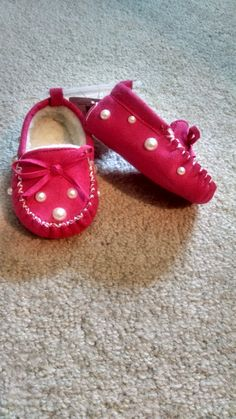 5d541b0c25e pink baby girl mocassins by TailoredTimbs on Etsy