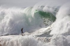 Wall of water (Allen J. Schaben / Los Angeles Times / May 19, 2011) A surfer reacts to an impending wipeout at the Wedge, a renowned surfing spot at the far eastern end of the Balboa Peninsula in Newport Beach.