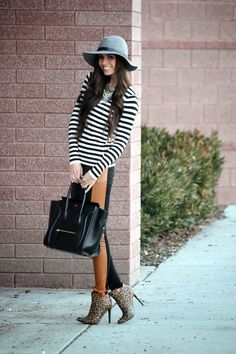 Fashion Estate - Robyn Stewart: Leather + Stripes