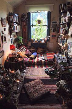 Natural living. Hippie bedroom