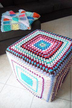 Crochet pouff & blanket