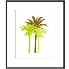 Neutral Palm Medley  8 x 10 Print  Green and Brown Palm by Tessyla, $20.00