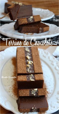 terrine de chocolate Fancy Desserts, Just Desserts, Delicious Desserts, Yummy Food, Chocolate Terrine, Chocolate Desserts, Dessert Dishes, Dessert Recipes, Tea Cakes