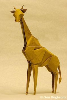 Go on an origami safari with these amazing African animals folded from paper. You'll see origami lions, giraffes, elephants, cheetahs and much more! Origami Ball, Origami Lion, Instruções Origami, Origami Paper Folding, Origami And Kirigami, Paper Crafts Origami, Paper Oragami, Origami Ideas, Origami Design