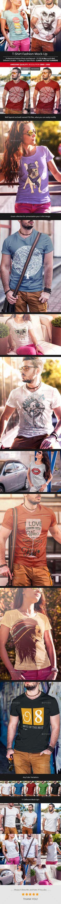 T-Shirt Fashion Mock-Up #design Download: http://graphicriver.net/item/tshirt-fashion-mockup/11725001?ref=ksioks