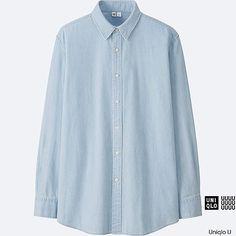 MEN Uniqlo U Denim Long Sleeve Shirt