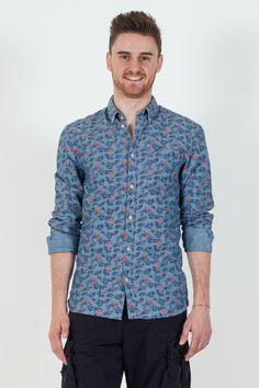 #Camicia da #uomo Premium by #Jack&Jones  - Fantasia floreale - Botton down - Slim Fit - 100% Cotone - Lavaggio a 30°C