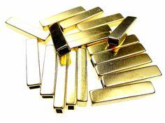 Fine metallo tappi o coni 18pcs quadrati tono oro di oldish