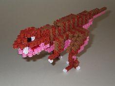 DIY 3D T-Rex perler beads - Photo tutorial