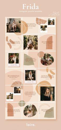 Instagram Feed Planner, Instagram Feed Layout, Feeds Instagram, Instagram Grid, Instagram Collage, Instagram Design, Instagram Post Template, Instagram Story, Instagram Posts