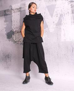 Schwarze lange Hose / pants von losen Oriental / extravagante Hose / Harem pants / Hose / Hosen verlieren / oriental Hosen - 055