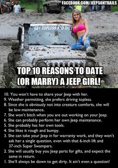 To my dear husband. Aren't you glad you married a Jeep girl? I hope you have some Jeep parts under the Christmas tree for me. Srt8 Jeep, Jeep Jku, Mopar, Jeep Humor, Toyota, Babe, Jeep Parts, Cool Jeeps, Jeep Truck