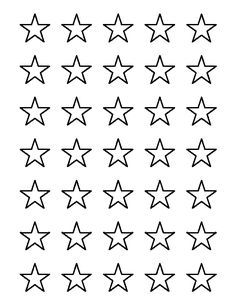 1 inch star pattern use the printable outline for crafts creating stencils scrapbooking