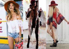 Modelos vestem chapéu Floppy estilo Boho Chic.