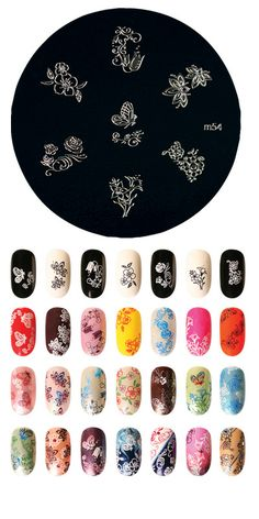 Konad m54-Love nail stamping plates. Konad, Cheeky, etc.