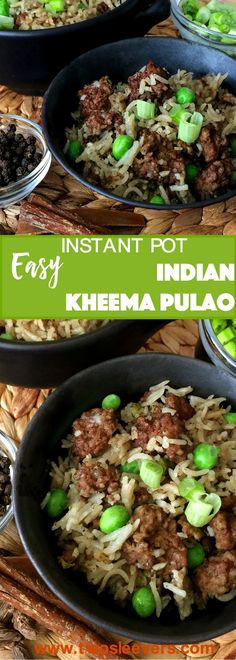 This Pressure Cooker Kheema Pulao is a one-pot meal of ground beef and rice, with just enough exotic spices to perk up your taste buds. via @thisoldgalcooks