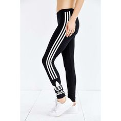 adidas Originals 3 Stripe Legging ❤ liked on Polyvore featuring pants, leggings, stripe leggings, adidas originals, stripe pants, adidas originals pants and striped leggings