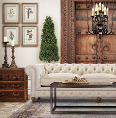 Chesterfield sofa - I can have a beige one since we won't have babies running around!