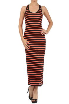 Summer Neon Striped Maxi Dress only $15 at Fashion Central -  http://www.ebay.com/itm/Striped-Summer-Neon-Racer-Back-Long-Maxi-Dress-Fashion-Central-/151637366388?ssPageName=STRK:MESE:IT