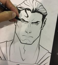 Superman bust in-show comission @wizardworld #inks #superman  #comission…