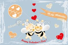 Scrapbook design elements for a Valentines Day card... - available as vector illustration