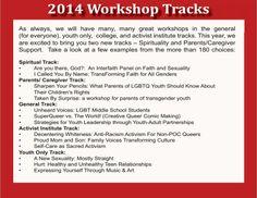 Sample of True Colors Conference Workshop Tracks