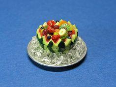 Miniatures, watermelon fruit bowl.