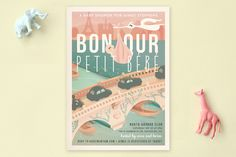 Bonjour Baby Shower Invitations by Lori Wemple at minted.com