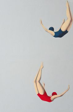 "Saatchi Online Artist roberta pinna; Painting, ""Divers Fifties "" #art"