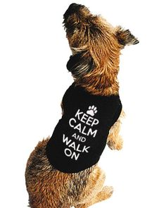 Darkside Keep Calm and Walk on Dog T-Shirt from Just a Touch of Everything