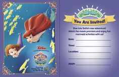 #Sofia the First Floating Palace Invitations free.
