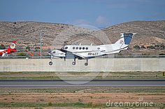 Alicante Airport Arrival OF A Light Aircraft - Download From Over 28 Million High Quality Stock Photos, Images, Vectors. Sign up for FREE today. Image: 47705119