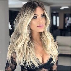 Brown ombre hair, blonde ombre, ombre hair color, fashion wigs, medium hair s Wig Styles, Curly Hair Styles, Natural Hair Styles, Real Hair Wigs, Human Hair Wigs, Curly Wigs, Frontal Hairstyles, Wig Hairstyles, Fancy Hairstyles