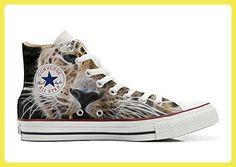 Converse All Star Hi Customized personalisierte Schuhe (Handwerk Schuhe)  Tiger Style TG46 - Sneakers