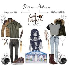 Piper Mclean fashion, she is the daughter of APHRODITE after all Percy Jackson Costume, Percy Jackson Outfits, Percy Jackson Characters, Percy Jackson Cabins, Percy Jackson Fandom, Piper Mclean, Punk Outfits, Boy Outfits, Fashion Outfits