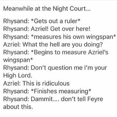 Hahahahaha this seriously needs to happen. Like them coming from a room with a measuring tape or something! XD