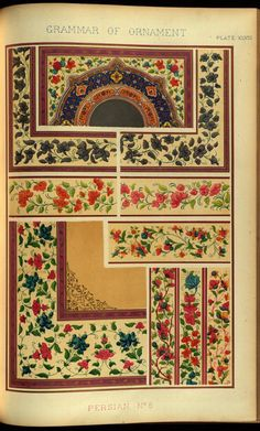 Selections of designs taken from 'The Grammar of Ornament' by...