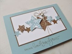 Carolas Bastelstübchen: New Christmas Cards Source by saarbine Homemade Christmas Cards, Christmas Cards To Make, Homemade Cards, Holiday Cards, Christmas Crafts, Paper Cards, Diy Cards, Karten Diy, Star Cards