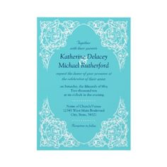 Shop Corner Flourish Wedding Invitation Blue) created by Personalize it with photos & text or purchase as is! Dream Wedding, Wedding Day, Blue Wedding Invitations, Tiffany Blue, Flourish, Blue Backgrounds, First Love, Corner, Chocolate