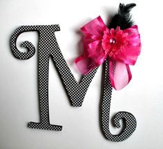 Letter M Wooden Wedding Reception Decoupaged by HillTopDesignsToo, $10.00