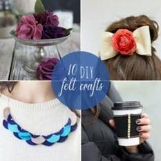 10 DIY Felt Crafts from