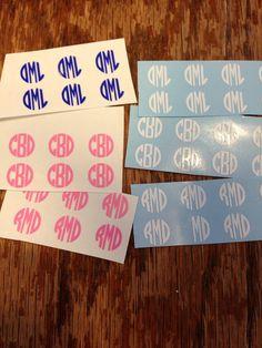 20 Custom Monogram Nail Decals by MoonWorksEmporium on Etsy, $3.00