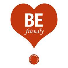 Be Friendly www.be-different.com Dares, Flexibility, Presents, Positivity, Joy, Logos, Simple, Unique, Creative