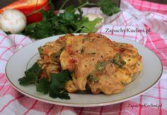Zdrowe placuszki z kurczakiem i warzywami