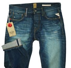 RRP €300 NEW Red Seal by REPLAY W-31 L-34 Handcrafted Japanese Selvedge Denim