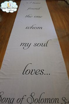 A wedding aisle runner that expresses the couples sentiments #phraseaislerunners, #weddingaislerunnerswithquotation