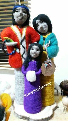 Muñecas de vellon  Familia