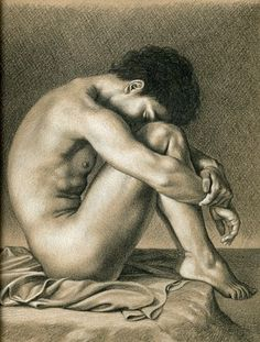 Flandrin pose drawing (Unidentified photography)