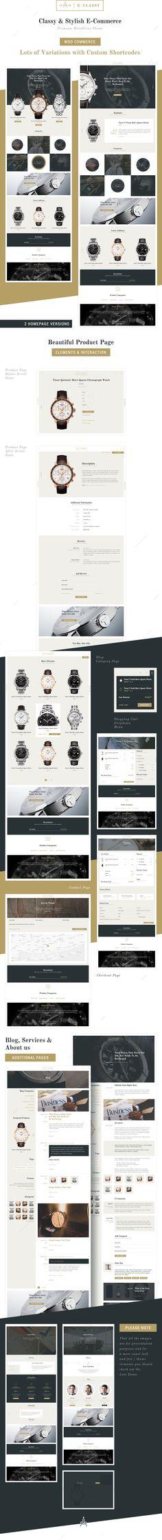 741a79a93 eClassy - eCommerce Classy Pro WordPress Theme #Classy, #eCommerce,  #eClassy,
